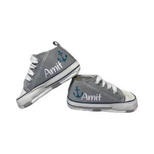 נעלי טרום הליכה – בייבי גריי סטאר