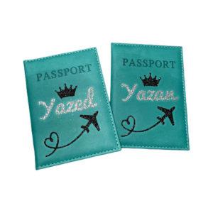 כיסוי דרכון מעוצב – ירוק אמרלד
