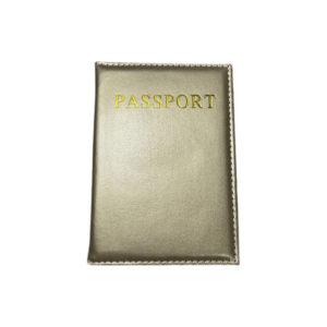 כיסוי דרכון מעוצב – זהב מבריק
