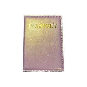 כיסוי דרכון מעוצב – ורוד מבריק מוזהב