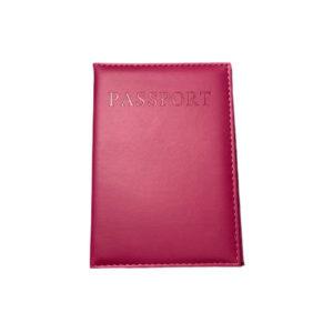 כיסוי דרכון מעוצב – ורוד פוקסיה